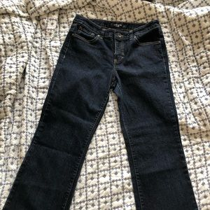 Nine West boot cut dark wash jean